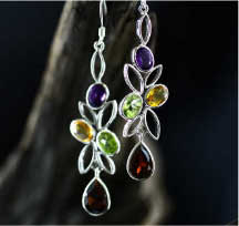 Sterling & Semi Precious Stones studded Silver Jewellery in Sri Lanka
